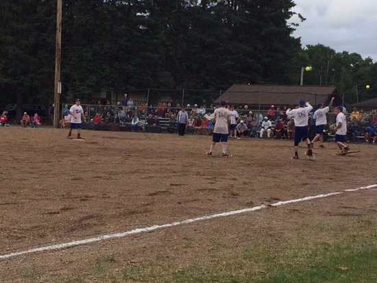 Lake Tomahawk, WI: In between innings.