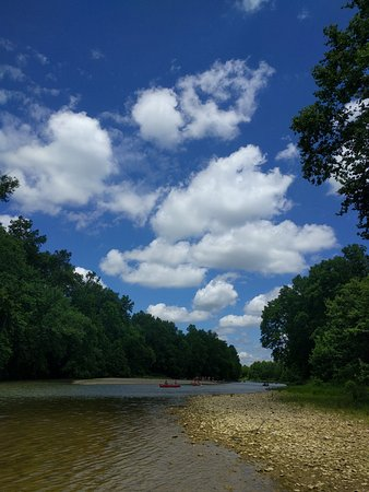 Brookville, IN: The Whitwater River is shallow and surprisingly unpredictable
