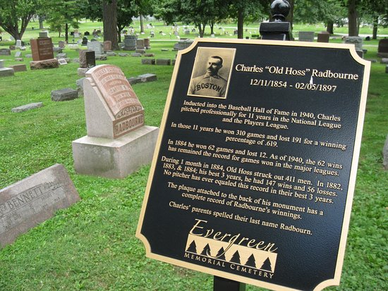 Evergreen Memorial Cemetery: Old Timey Wimey Baseball Pitcher Charles  Radbourne