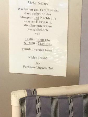 Parkhotel Stader Hof: Regel Innenhof