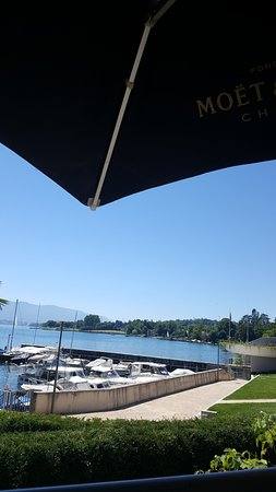 Bellevue, Suíça: Vue du restaurant