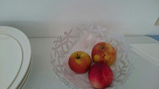 Garni Appartements Almrausch: Unser Frühstück am ersten Morgen...