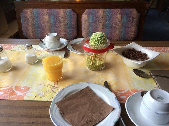 Altenau, Jerman: Frühstück mit Kunstblume