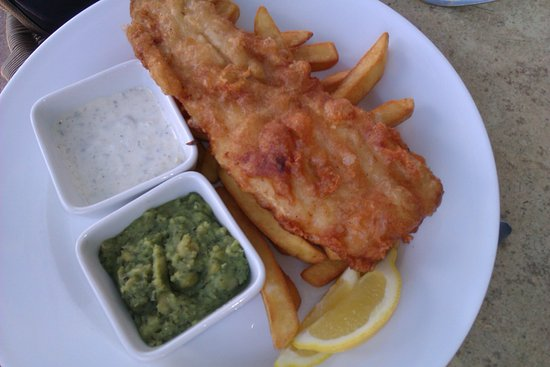 Cadnam, UK: fish and chips