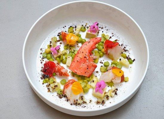 Homard verveine citronelle p che plate picture of la for Cuisine you niort