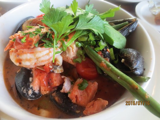 Coupeville, Ουάσιγκτον: Penn Cove seafood stew