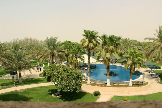 Mafraq Hotel Abu Dhabi: Ants drove me away on both attempts to rest and get a little Vitamin D