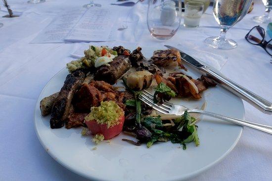 Ridgefield, CT: Homemade sausages, roasted veggies, salad