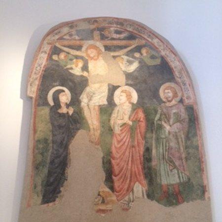 Teggiano, อิตาลี: affresco crocifissione