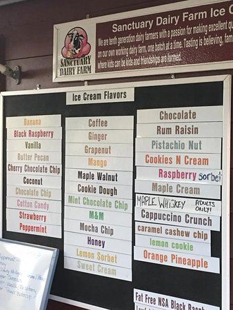 Sunapee, NH : Flavors on one of the day we visited. They also do sundaes and shakes