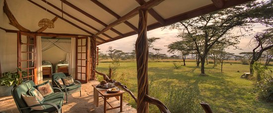 Mara Bush Houses, Asilia Africa: The verandah at Topi House