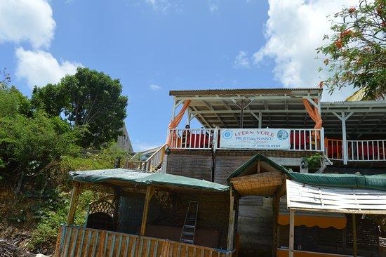 Saint Louis, Guadeloupe : Restaurant à l'etage