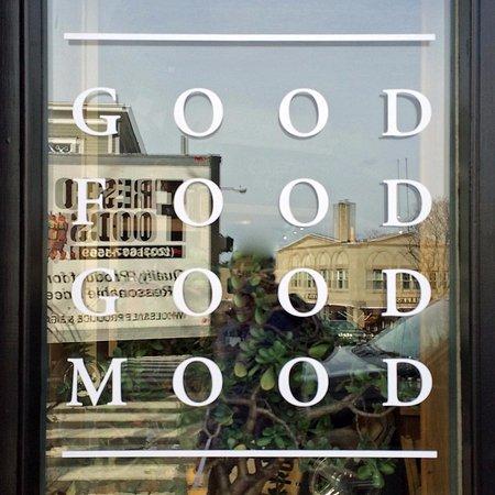 New Canaan, CT: Window sign: Good Food Good Mood