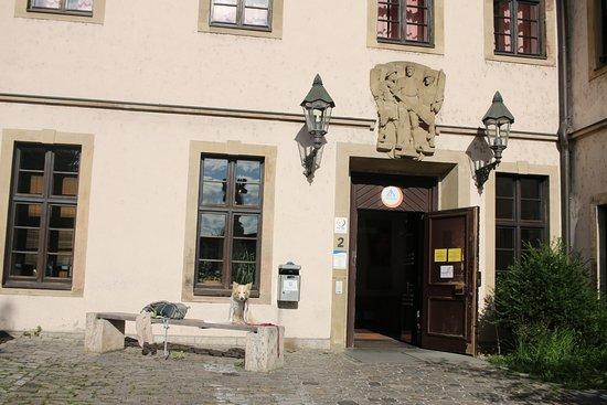 Jugendherberge Wurzburg: welcoming entrance