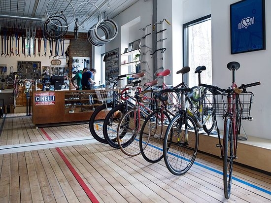 The bike repair and shop  Photo by: Monica Friedrich