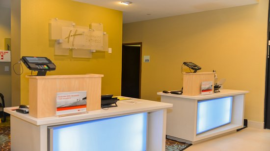 Front Desk at the all new Holiday Inn Express & Suites Cuero Texas