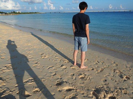 Yonaha Maehama Beach : 白色沙灘以及藍色又清澈的大海 white sand beach with blue and clear see