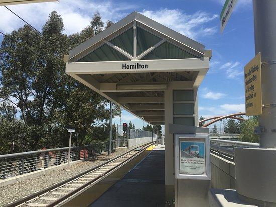 Santa Clara Valley Transportation Authority: Light Rail Station At Hamilton San  Jose, CA