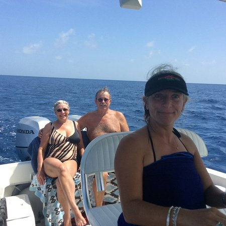 West End, Tortola: With Captain Deb in IRIE