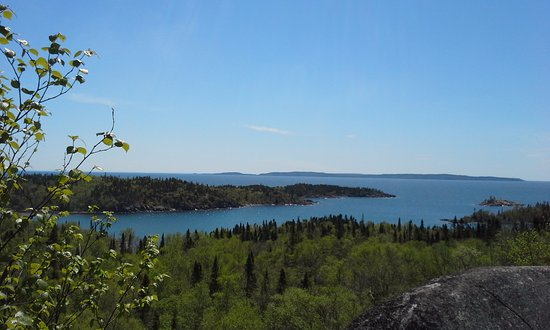 Terrace Bay, Canada: One of the many fantastic lookouts on this trail