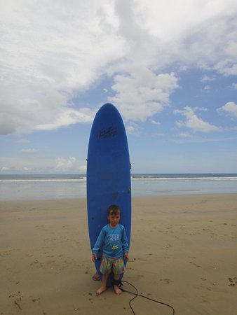 Playa Grande, Costa Rica: getting ready to surf