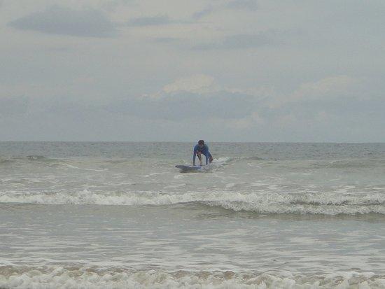 Playa Grande, Costa Rica: my husbands first wave