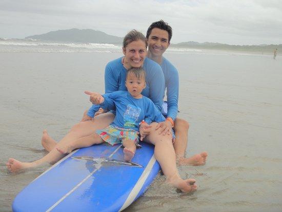 Playa Grande, Costa Rica: a little break for a picture