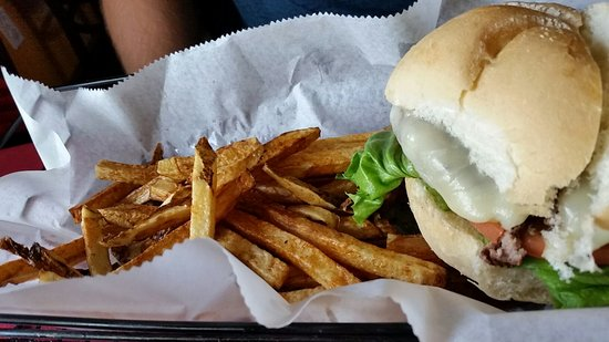 Algoma, WI: Cajun burger with fries