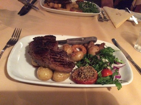 Cleobury Mortimer, UK: Rib eye steak