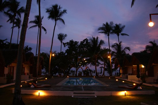 Elysia Beach Resort: Evening view from our room