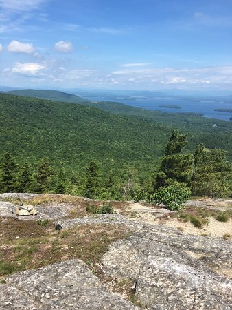 Alton Bay, NH: Beautiful hike and loads of blueberries near top of orange trail. The views are spectacular at t