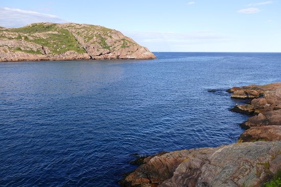 Fort Amherst Lighthouse: View of the mouth of the harbor