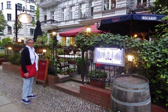 Gourmanderie: Restaurant mit Terrasse an der Schloßstraße
