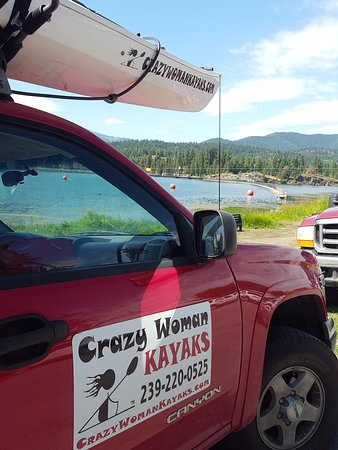 Thompson Falls, MT: Loved the name of this kayak rental company! Loved Sissel! Such a lovely, openhearted & kind per