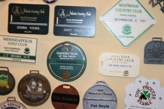 Golf wall memerobillia at the Killeen House Hotel bar