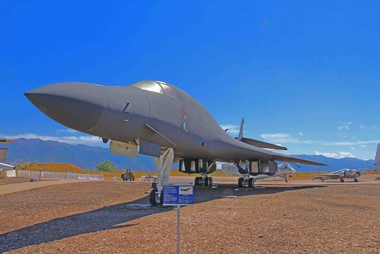 Ogden, UT: B-1 Bomber is one of the planes displayed outside.