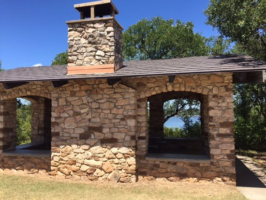 Council Bluff Pavilion at Lake Brownwood State Park