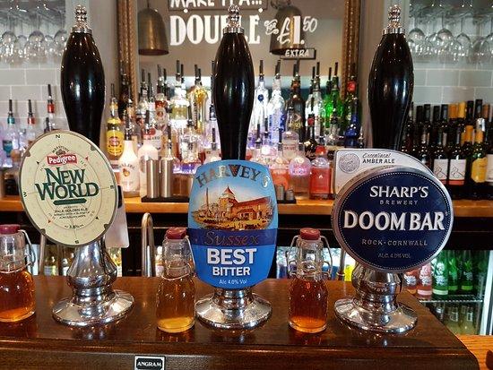 Crowborough, UK: Beer selection