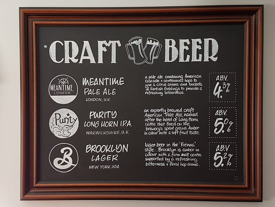 Crowborough, UK: Craft beers