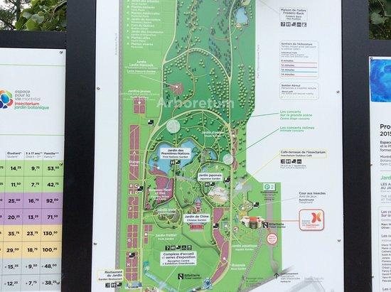 Mapa Do Parque ร ปถ ายของ Montreal Botanical Garden มอนทร ออล