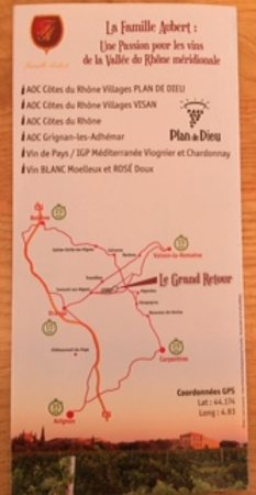 Travaillan, France : carte pour accéder au domaine