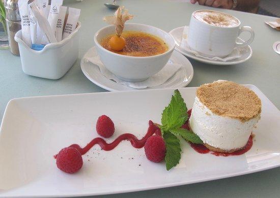 Crème brûlée y Tarta semifría de queso