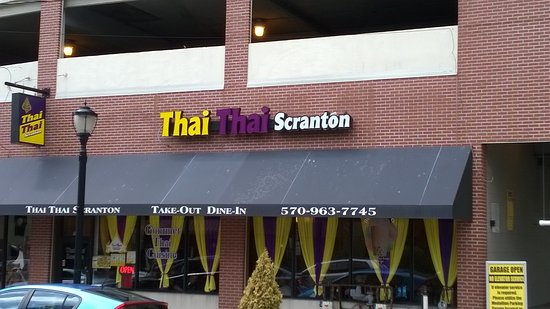 Thai Thai Scranton: Location just off historic Scranton courthouse square