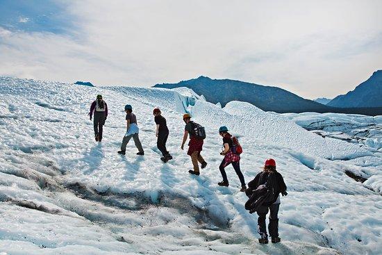 Glacier View, Alaska: Hiking the icy hills