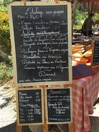 Brantes, Francia: THE MENU THAT DID NOT TRANSLATE