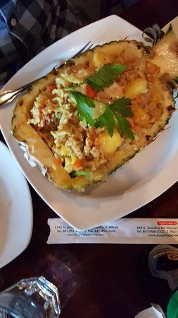 Vernon Hills, IL: Pineapple Fried Rice