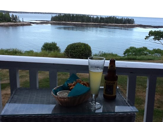 Georgetown, ME: cocktails on the porch