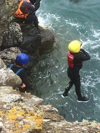 Mathry, UK: Coasteering jump