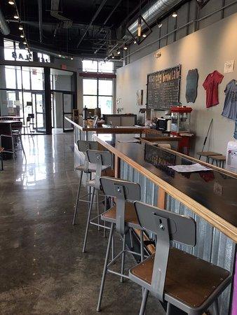 Iowa City Brewlab: Unique Bar Design By Local Artist Megan BIshop Was Made  By Blending