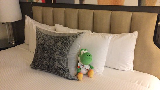Fifty NYC–an Affinia hotel: He had to stay at the room but it seems he had a good time